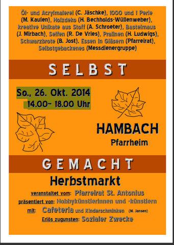 Kunst- und Schlemmermarkt in Hambach